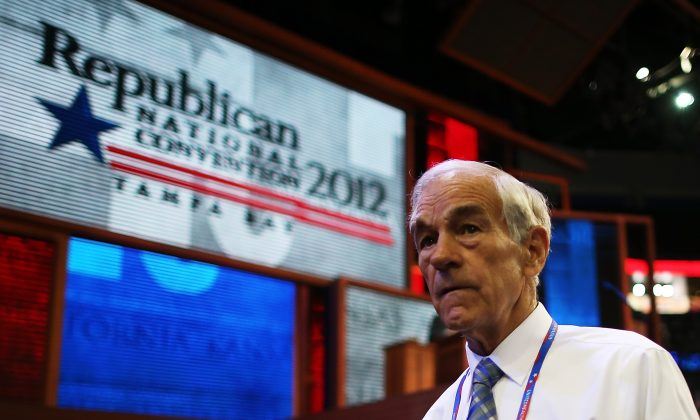 Former U.S. Rep. Ron Paul walks around during the Republican National Convenention in Tampa, Florida in 2012. Paul is answering people's questions on August 22, 2013 on Reddit. (Chip Somodevilla/Getty Images)