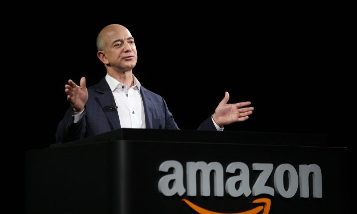 Jeff Bezos, Amazon's CEO, in a 2012 file photo. Bezos purchased many assets of the Washington Post Company on August 5, including the Washington Post and its website. (David McNew/Getty Images)