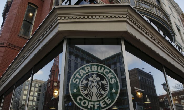 An exterior view of a Starbucks, on Dec. 27, 2012, in the Chinatown neighborhood of Washington, D.C. (Drew Angerer/Getty Images)