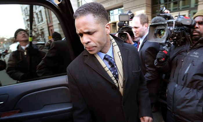 Former Rep. Jesse Jackson Jr., leaves U.S. District Court in Washington, D.C., Feb. 20, 2013. (Win McNamee/Getty Images)