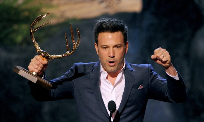 Actor Ben Affleck onstage during Spike TV's Guys Choice 2013 at Sony Pictures Studios on June 8, 2013 in Culver City, California. (Photo by Kevin Winter/Getty Images for Spike TV)