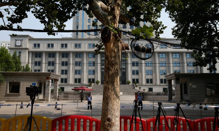 A general view of the Jinan Intermediate People's Court during the fourth day of former Chinese politician Bo Xilai's trial on Aug. 24, 2013 in Jinan, China. (Feng Li/Getty Images)