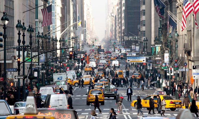 Madison Ave, New York, on Jan. 29, 2013. (Samira Bouaou/Epoch Times)