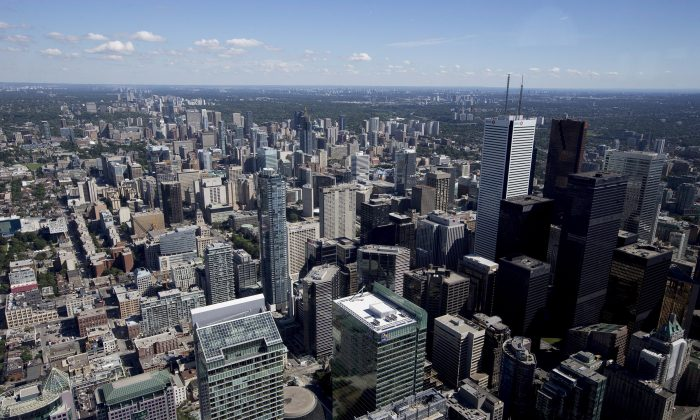 Toronto's financial district is seen in this file photo. American equity markets have garnered headlines with record-breaking closes earlier this year, but recently the Toronto Stock Exchange has started to show some outperformance against the S&P 500 in the U.S. (The Canadian Press/Michelle Siu)