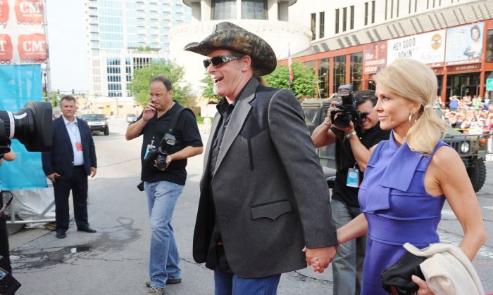 Musician Ted Nugent and wife Shemane Deziel Nugent attend the 2009 CMT Music Awards at the Sommet Center on June 16, 2009 in Nashville, Tennessee. Deziel was reportedly arrested at a Dalles airport on August 29, 2013. (Rick Diamond/Getty Images)