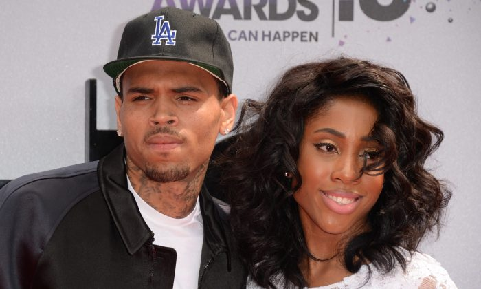 Chris Brown and Sevyn Streeter arrive for the 2013 BET Awards at the Nokia Theatre L.A. Live in Los Angeles on June 30, 2013. (Robyn Beck/AFP/Getty Images)