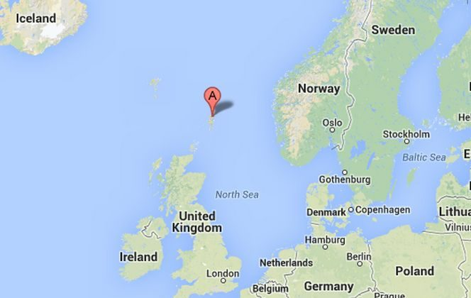 A helicopter ditched west of Sumburgh Airport on August 23, 2013, with 18 people on board. (Google Maps)