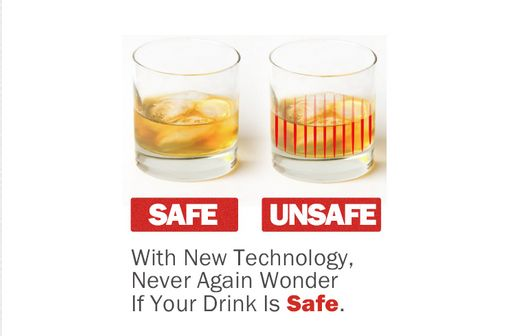 DrinkSavvy cups change color when they come into contact with the tasteless, odorless date-rape drugs. (Screenshot/Indiegogo.com)