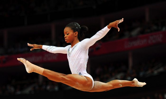 Gabby Douglas of the United States competes on the beam during the Artistic Gymnastics Women's Beam final on Day 11 of the London 2012 Olympic Games at North Greenwich Arena on August 7, 2012 in London, England. (Michael Regan/Getty Images)