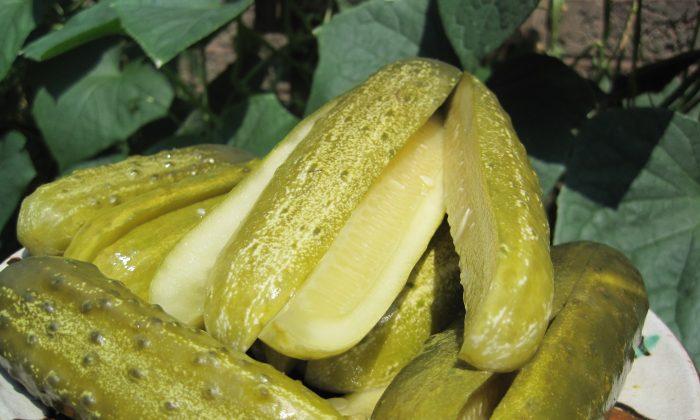 Summer pickled cucumbers. (Maria Matyiku/Epoch Times)