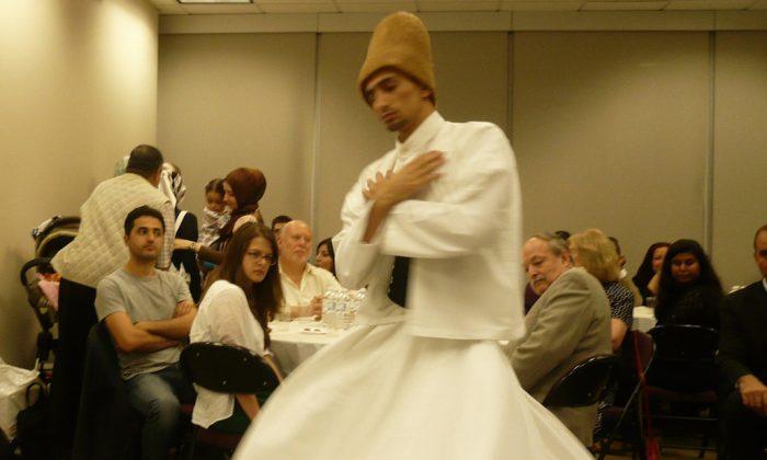Whirling Dervish Kamil Tekelioglu performs in Ottawa. (Susan Hallett)