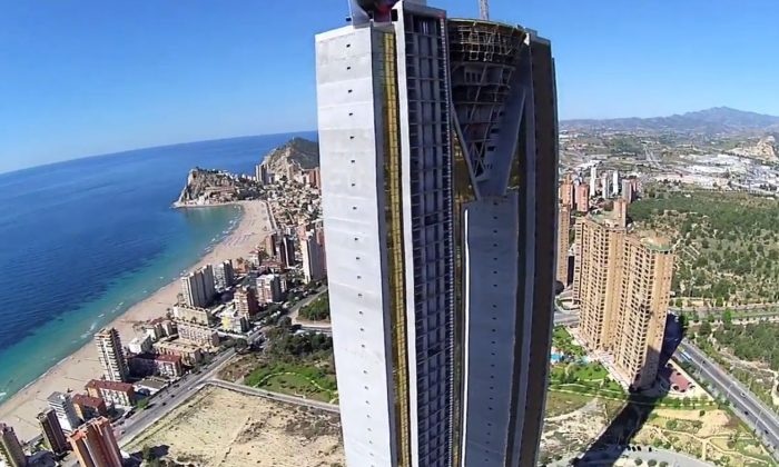 A screenshot of a YouTube video shows the tower.