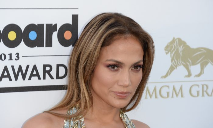 Jennifer Lopez arrives on the red carpet for the 2013 Billboard Music Awards at the MGM Grand in Las Vegas, Nev., May 19, 2013. (Robyn Beck/AFP/Getty Images)