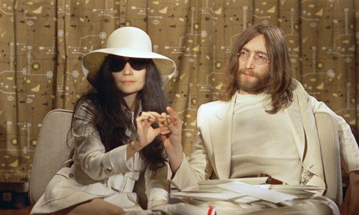 Beatle John Lennon and his Japanese wife Yoko Ono in 1969. (AP Photo)
