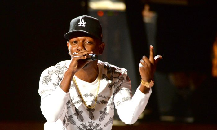 Recording artist Kendrick Lamar performs onstage during the 2013 BET Awards at Nokia Theatre L.A. Live in Los Angeles, Calif., on June 30, 2013. (Mark Davis/Getty Images for BET)
