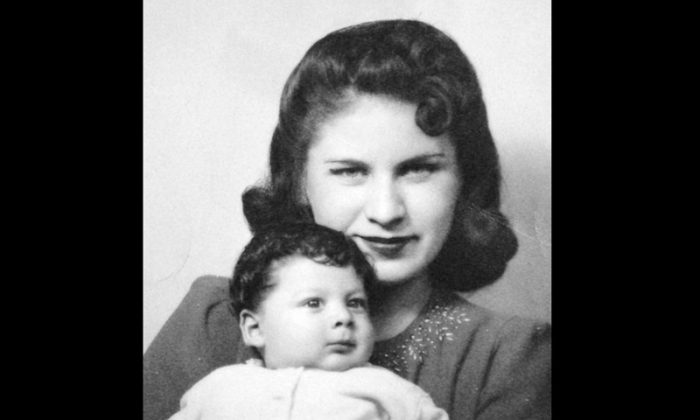 """This photo made circa 1941 and provided by writer Tim Z. Hernandez on behalf of the Bea Kozera Estate shows Beatrice Kozera and her son Albert Franco. Kozera, the woman whose fleeting relationship with novelist Jack Kerouac was chronicled in """"On the Road,"""" has died. She was 92. (AP Photo/Bea Kozera Estate)"""