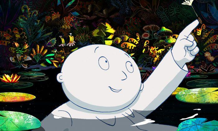 "The Moon Man (voiced by Katharina Thalbach) in the animation ""Moon Man."" (Courtesy of Tribeca Enterprises LLC)"