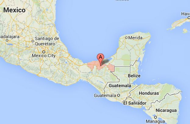 The state of Tabasco, Mexico, where a train derailed, killing at least four and injuring dozens on Sunday, Aug. 25, 2013. (GoogleMaps)