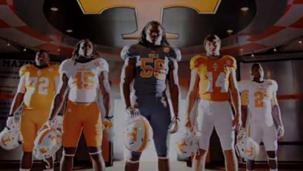 The new smokey-gray Tennessee Vols uniform as shown in a video uploaded by the team to YouTube. (Screenshot)