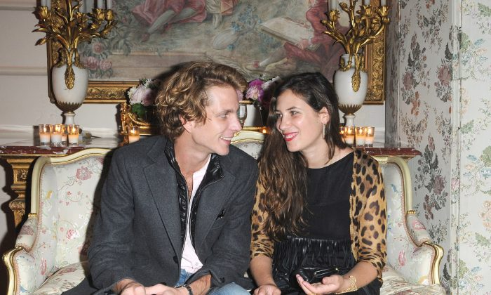 Andrea Casiraghi (L) and Tatiana Santo Domingo (R) attend the launch of new Jewelry collection by Repossi at the Ritz Hotel in Paris, France, on Oct. 7, 2009. (Pascal Le Segretain/Getty Images)