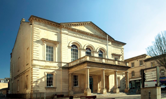Built in 1832 when the town was growing and needed a place of entertainment and resort, the Subscription Rooms in Stroud hosts year-round arts and entertainment, exhibitions, markets and meetings. (Courtesy of Subscription Rooms, Stroud)