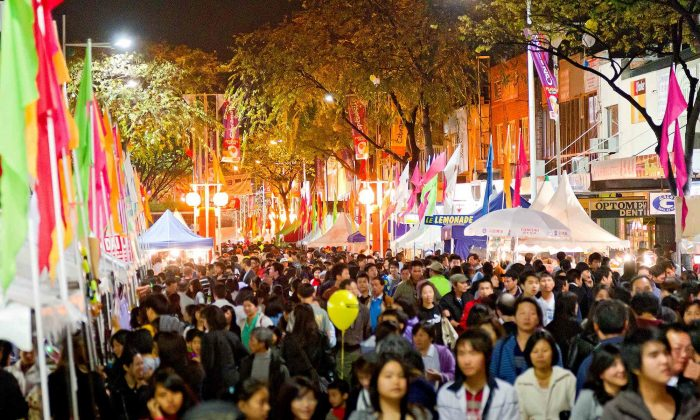 The 90,000 colourful crowd who throng to Cabramatta's Annual Moon Festival. (Courtesy of Fairfield City Council)