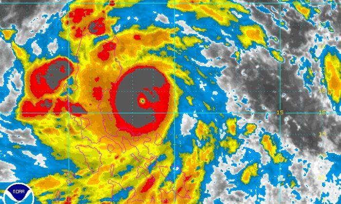 Typhoon Utor near the Philippines Sunday, Aug. 11, 2013. (NOAA)