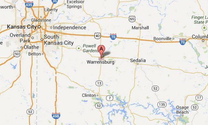 Warrensburg, Mo., where bar owner William Blaine Whitworth, 25, was shot to death on Sept. 1, 2012. (Screenshot/Google Maps)