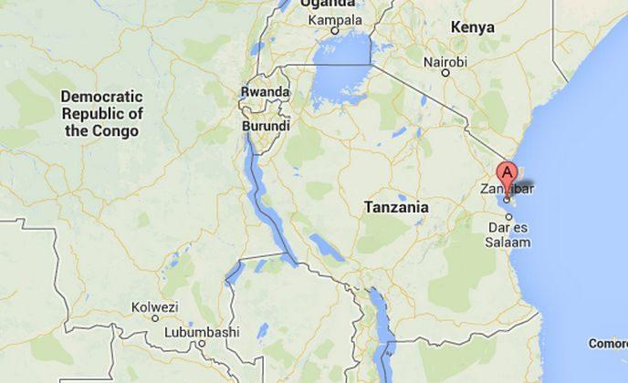 Zanzibar, Tanzinia (A), where two young British women were attacked with acid Wednesday, Aug. 7, 2013. (Screenshot/Google Maps)