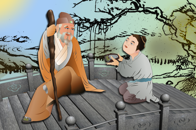 Zhang Liang, one of the Three Heroes of the Early Han Dynasty, was known for his tolerance and for showing respect for the elderly. (Catherine Chang/Epoch Times)