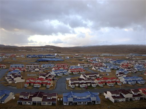 This 2010 photo released by the State of Alaska Division of Community & Regional Affairs shows neighborhood housing in Adak, Alaska. (AP Photo/State of Alaska Division of Community & Regional Affairs)