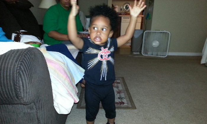 Shylin Olanda Neal, a one-year-old who was in a vehicle when it was stolen on August 29, 2013. She was found on August 30. (North Carolina Department of Public Safety)