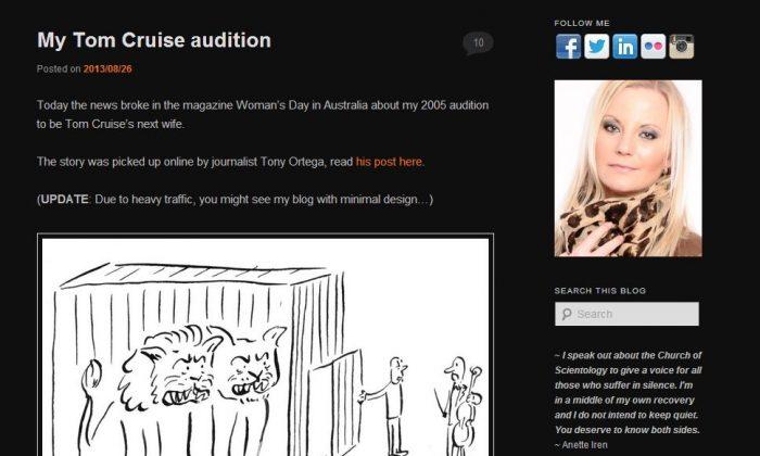 A screenshot shows Annete Iren Johansen's website and her portrait.