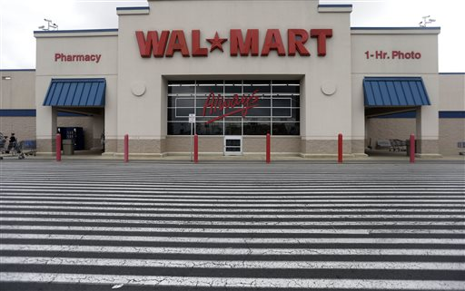 This  July 12, 2013, photo, shows a Wal-Mart,  in Bristol, Pa. (AP Photo/Matt Rourke)