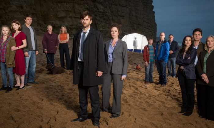 """The cast of the television drama series """"Broadchurch,"""" about a family who is mourning the loss of a child during a small-town investigation into his murder. (Courtesy of BBC Worldwide Americas Inc.)"""
