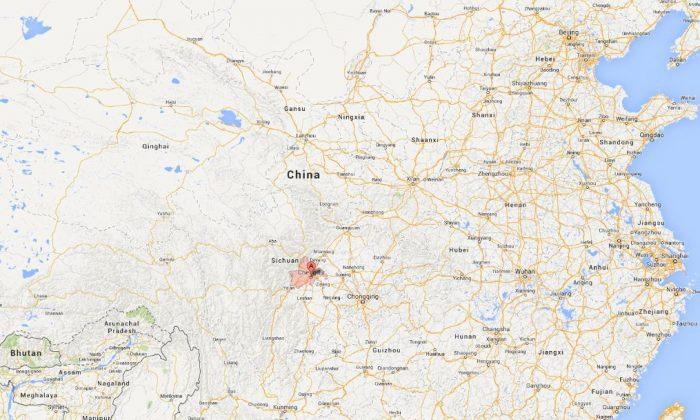 A screenshot of Google Maps shows Chengu in Sichuan Province, China.