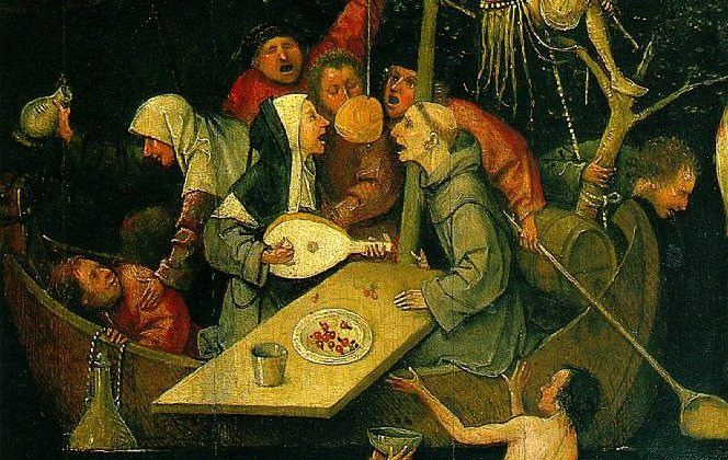 "A detail from ""A Ship of Fools"" by Hieronymus Bosch (circa 1450–1516) [Public domain], via Wikimedia Commons"