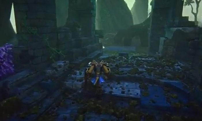 A screenshot of EverQuest Next's YouTube video shows gameplay.