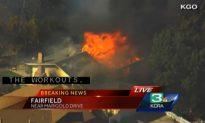 Fairfield: Firefighters Battling Grass Fire in California, Homes Burned