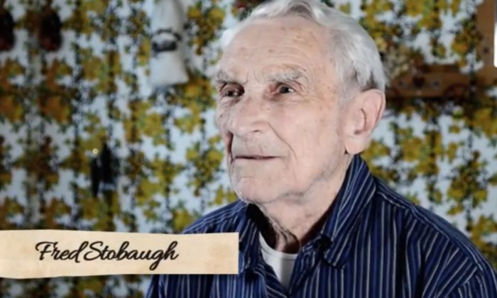 Fred Stobaugh, a 96-year-old-man, penned a song for his deceased wife of 73 years. (Screenshot of YouTube