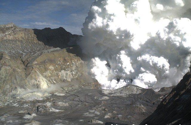 The White Island volcano eruption on August 20. (GeoNet)
