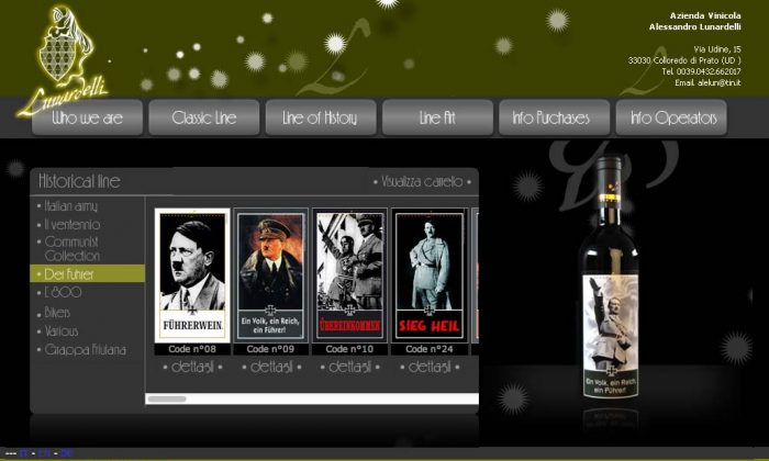 A screenshot of the company's 'Der Führer' line on its website.