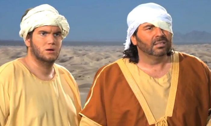 """A screenshot of YouTube shows a scene from """"Innocence of Muslims."""""""