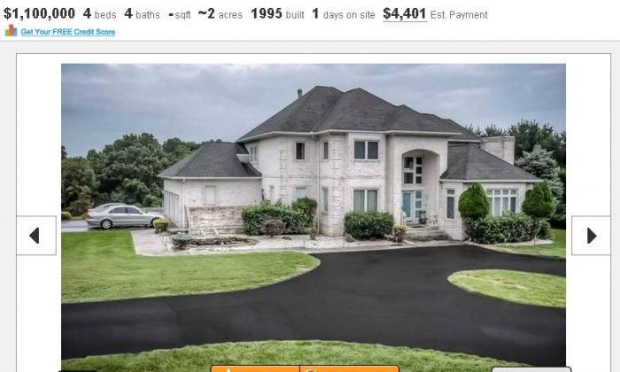 This listing shows a home in Baltimore being sold by retired Baltimore Ravens linebacker Ray Lewis. (Screenshot/Estately)