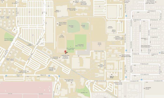 A screenshot of Google Maps shows the campus.