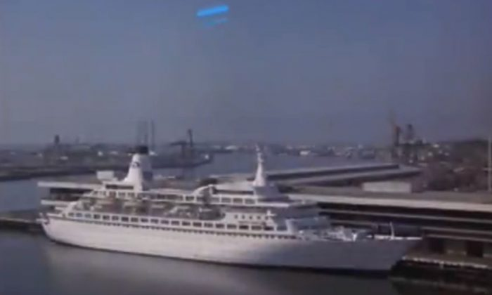 """A screenshot of YouTube shows the """"Love Boat"""" cruise ship."""
