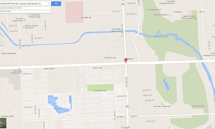 A driver reported that they saw a vehicle at this location on Monday with a little girl in the trunk. (Google Maps)