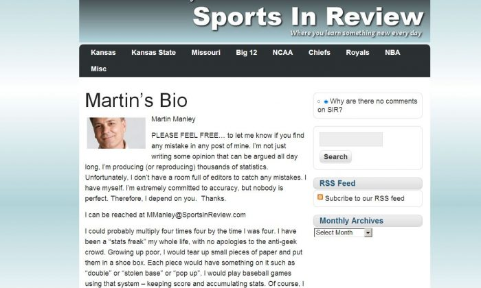 (Screenshot/Martin Manley's Sports in Review)