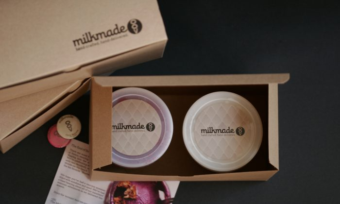 Hand-made, locally sourced, organic ice cream from MilkMade Ice Cream, a business that delivers two pints of ice cream once a month to your home.(Courtesy of MilkMade)