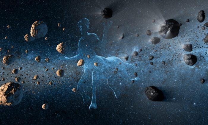 New observations from NASA's NEOWISE project reveal the hidden nature of centaurs, objects in our solar system that have confounded astronomers for resembling both asteroids and comets. The centaurs, which orbit between Jupiter and Neptune, were named after the mythical half-horse, half-human creatures called centaurs due to their dual nature. This artist's concept shows a centaur creature together with asteroids on the left and comets at right. (NASA/JPL-Caltech)